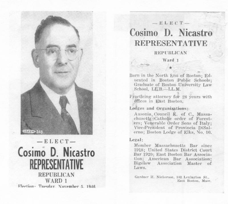 My Grandfather, Attorney Cosmo D. Nicastro